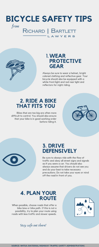 Infograph of bicycle safety tips